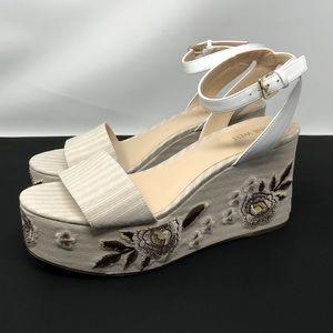 Nine West Floral Wedge Sandals